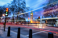 Chasing the Red Blur (_Amritash_) Tags: street longexposure travel streets london clock westminster traffic streetlights bigben londres roads traveler extendedexposure cityofwestminster redblur exploringinfinity chasingtheredblur