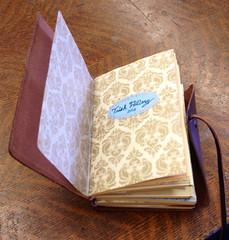 My Midori style book (trishahillery) Tags: travel leather sketch portable diary journal style size write draw passport vellum personalized midori personalize customize