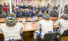 Expedition 43 Preflight (201503270031HQ) (NASA HQ PHOTO) Tags: nasa kazakhstan kaz baikonur scottkelly baikonurcosmodrome charlesbolden gennadypadalka russiansokolsuit mikhailkornienko expedition43 russianfederalspaceagencyroscosmos igorkomarov expedition43preflight oneyearmission