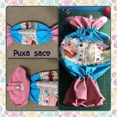Puxa saco (ceciliamezzomo) Tags: pink blue kitchen azul bag handmade rosa case cupcake patchwork decor saco cozinha holder puxa