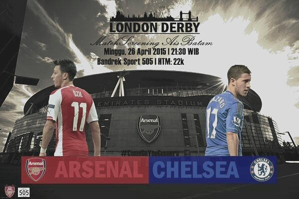 AIS Batam #AIS @AIS_BTM: #MatchScreeningAISBTM Arsenal vs chelsea | Minggu, 21:30 WIB | at @bandreksport505 | HTM: 22k | #LondonDerby #COYG scuBsbQJ8Ls