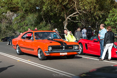 Marilyn. (God_speed) Tags: show hk orange colour classic cars coffee car sydney hills event 350 ht meet hg holden monaro gts cavallino terrey