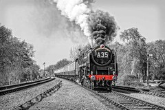 Smokin' Dragon (Tony Teague (Slowcomo)) Tags: steamrailway steamlocomotive greatcentralrailway preservedrailway heritagerailway brclass9f canonef70200mmf28lisiiusmlens canoneos5dmkiii no92214 tonyteague slowcomo timelineeventscharter no92220eveningstar92214