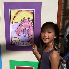 """Sally""""s artwork is on display at the Young Master 2015 art show. Happening now until May 15."""