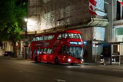 London General LT307, LTZ 1307 at Trafalgar Square on route (N)453 (LFaurePhotos) Tags: bus london night trafalgarsquare route453 lt307 ltz1307