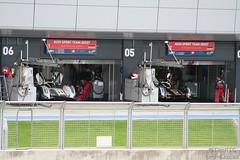 The Audi Sport Team Joest garages (Tim R-T-C) Tags: racetrack silverstone audi motorracing motorsport autosport carracing sportscarracing pitgarage lemansprototype sportsprototype audisportteamjoest worldendurancechampionship audir18 fiawec