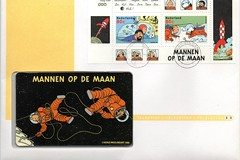 TINTIN - KUIFJE (streamer020nl) Tags: holland dutch 33 stamps 1999 rocket tintin haddock phonecard bobbie kuifje hergé raket moulinart mannenopdemaan telefoonkaart teleletter telebrief telelettre