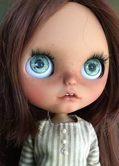 (Chassy Cat) Tags: pumpkinbelle puppelina blythe custom customized doll ooak chassycat dolls tan freckles teeth open mouth