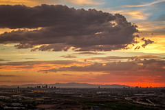 Stormy Sunset (EvanJawnson) Tags: red arizona orange sun storm phoenix skyline 50mm nikon desert nikkor tempe phx niftyfifty nikond7100