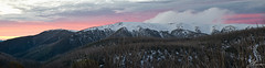 Falls Creek Panorama (Jake Richardson Photography) Tags: trees sunset snow ski colour colors clouds creek landscape nikon skiing australia melbourne victoria falls d610