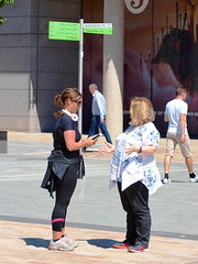 It Really Was This Big... (marbowd37) Tags: streetphotography salfordquays salford street mediacity people girl