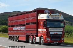 W. D. CORMACK DAF XF 510 SUPER SPACE SK15 DAF (denzil31) Tags: w d cormack daf xf 510 super space euro 6 caithness livestock general haulage kelsalightbar a9 moy double decker cattle float daftrucks