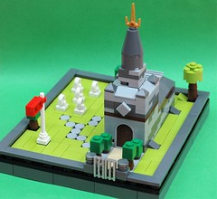 Microscale church 1 (adde51) Tags: scale church grave lego headstone micro moc microscale adde51
