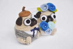 Pug Wedding cake topper (noristudio3o) Tags: pug wedding cake topper weddingcaketopper figurines gift decor weddingdecor centerpiece custom order personalized dog doglover animal amigurumi