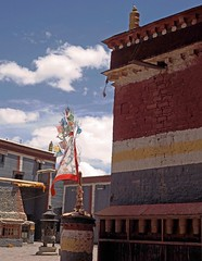 Sakya Monastery 4 (joeng) Tags: tibet china sakya temple building sakyamonastery landscape monastery places prayerflag