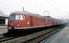 456 107 + 106  Mosbach  19.02.84 (w. + h. brutzer) Tags: analog train germany deutschland nikon eisenbahn railway zug trains db 456 mosbach eisenbahnen triebwagen triebzug et56 triebzge webru
