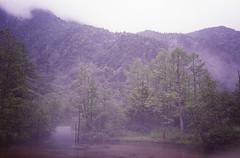 (t_mimizuk) Tags: film contax tvs nature landscape pond rain cloud kamikochi kamikouchi nagano japan