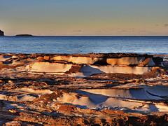 Sunset on stone II (elphweb) Tags: hdr ocean sea seaside sunset rocks island