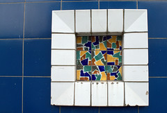 Relic in a Chorley street (Tony Worrall Foto) Tags: england northern uk update place location north visit area county attraction open stream tour country welovethenorth northwest unitedkingdom urban chorley town booths tiles color colours decay broken shapes shape geometric made blocks