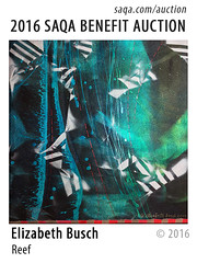 Reef by Elizabeth Busch (saqaart) Tags: artquilts saqa fiberart quilts textiles artwork stitched layered