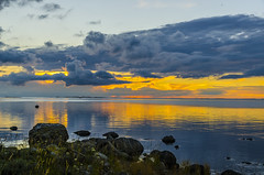 Partly cloudy sunset (ArtDvU) Tags: evening sunset partly cloudy clouds raippaluoto replot finland summer kvarken baltic sea