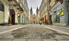Sarajevo, la cathdrale Coeur-de-Jsus (Vincent Rowell) Tags: raw tonemapped balkans2016 sigma816mm sarajevo bosniaandherzegovina church street