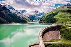 Kaprun Mountain Reservoirs (Tuomo Lindfors) Tags: itvalta austria sterreich topazlabs dxo filmpack adjust kaprun mountainreservoirs reservoir pato dam hochgebirgsstauseen moosersperre jrvi lake vesi water alpit alps alpen vuori mountain