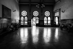 What are you waiting for? (zgr Grgey) Tags: 2016 20mm bw d750 nikon sirkeci voigtlnder reflection trainstation waitingroom istanbul turkey urbex flickrfriday