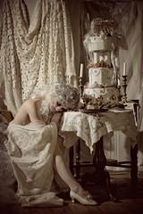 Miss Havisham (Yates (Way Ahead Photography)) Tags: dickens great expectations art nude secret drawing club luke yates way ahead photography woman model wedding dress cake
