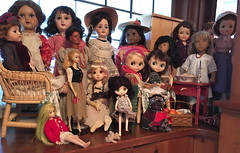 Some of my More Cooperative Dolls (Emily1957) Tags: dolls doll collection dollcollection antique vintage contemporary lace toy toys