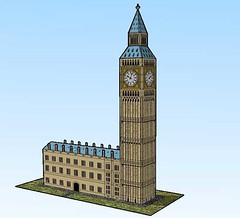 Simple Big Ben Clock Tower Free Building Paper Model Download (PapercraftSquare) Tags: bigben buildingpapermodel clocktower