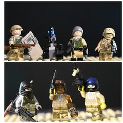 Desert figbarf (jaspera2014) Tags: lego military citi modcom customlego brickarms legomilitary citizenbrick gibrick