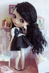 purr (Cherryta) Tags: girl cat dress kitty curly oh ribbon dots rement addict melina adg
