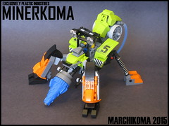 Minerkoma (Marchikoma 2015) (ExclusivelyPlastic) Tags: anime robot power lego digging ghost shell theme mecha mech miners tachikoma marchikoma digginf