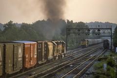 HX Tower action  June 1983 (Vince Hammel Jr) Tags: railroad trains scanned