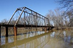 Old One Lane Bridge (dbro1206) Tags: old bridge rusty explore forgotten arkansas decayed onelanebridge truss pratttruss jolietbridgeco woodenrunners 3tonweightlimit