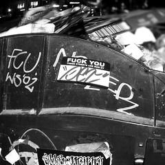(petthethreat) Tags: blackandwhite streetart berlin graffiti sticker urbanart petthethreat lesnerds