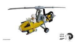 Autogyro (Little Nellie - WA-116) (bigboy99899) Tags: james lego helicopter bond wallis 007 autogyro rotorcraft littlenellie wa116 bigboy99899