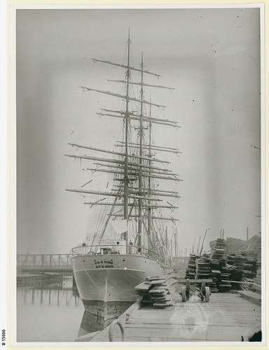 "The sailing ship ""Oregon Bremen"" at Port Adelaide. - Photograph courtesy of the State Library of South Australia"