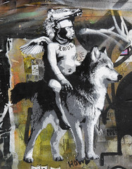DS aka David Schmid (cocabeenslinky) Tags: street city uk boy england urban white streetart david black london art love aka lumix photography graffiti stencil wolf artist photos united capital ds kingdom east panasonic april graff schmid eastend artiste 2015 dmcg6 ©cocabeenslinky