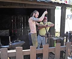 This is hard work! (ali eminov) Tags: nebraska festivals ali faires papillion blacksmiths renaissancefestivals alieminov renaissancefestivalofnebraska