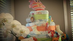 Nappy cake (Christine Amherd) Tags: pink party girl creativity idea nappy decoration creative rosa australia melbourne sweets australien ine nappies babyshower passionate backing creativephotography mypassion nappycake christinescreativityphotography christinesphotography