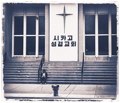 Keep Your Confidence (swanksalot) Tags: blackandwhite bw chicago church cross steps stranger korean toned albanypark kedzie
