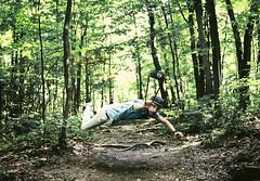 Anti-Stress (andreannelupien) Tags: trees boy portrait tree men guy nature hat forest photoshop beard creativity photography idea fly flying photographer surrealism creative surreal levitation clothes photograph montage imagine imagination surrealist create concept chic conceptual ideas levitate levite