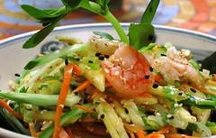 Salad Days (fred bc) Tags: canonpowershots95 salad shrimp hanoi madamehien oldquarter vietnamesesalad vietnamesefood fresh green vietnam