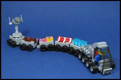 Lunar Express (Karf Oohlu) Tags: lego moc minifig rover supply supplytrain supplyrover