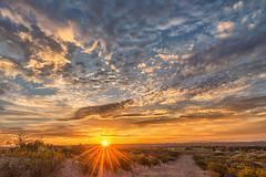 Sunshiny Day (inlightful) Tags: sun sunrise sunset morning evening dusk dawn clouds sky sunny sunshine sunrays sunbeams sol solar power energy nature desert southwest newmexico dirtroad