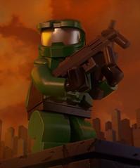 Master Chief (Lehanikus) Tags: lego halo spartan minifigure render