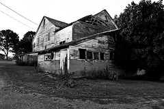 Abandoned Farmhouse (johntomaiphotography.com) Tags: blackandwhite pennsylvania antique forgotten discarded decayed fallingapart oldfarmhouse collapsing