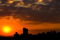 Sao Paulo (elzauer) Tags: city sunset brazil horizontal outdoors photography cityscape br dusk sãopaulo citylife nopeople dramaticsky cloudscape urbanskyline orangecolor capitalcities traveldestinations colorimage sãopaulostate buildingexterior cumuluscloud